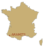 Situation d'Aramits sur la carte de France
