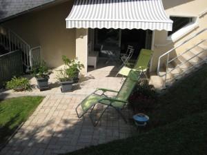 photo de la terrasse du meublé le Labrit