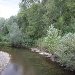 Rivière d'Aramits vue par Caroline